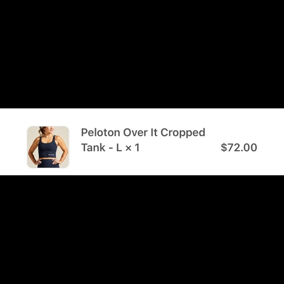 Peloton Tank - used 2x EUC! Two tone colors.